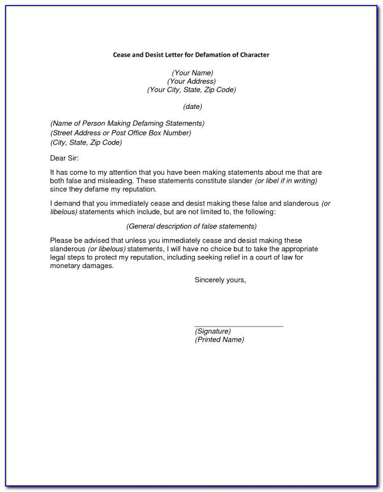 Cease And Desist Letter Template For Debt Collectors Uk