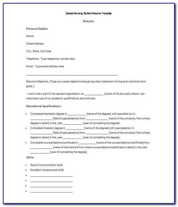 Certified Nursing Assistant Resume Template
