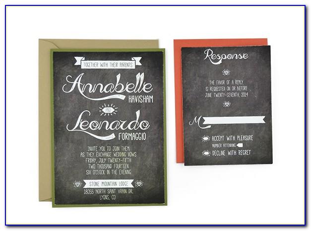 Chalkboard Invitation Templates Free