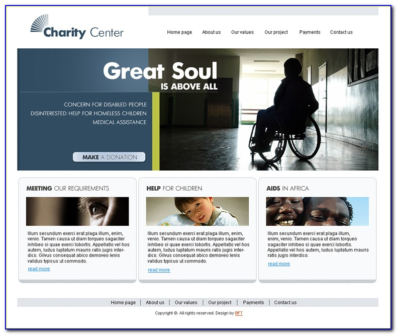 Charity Websites Templates Free