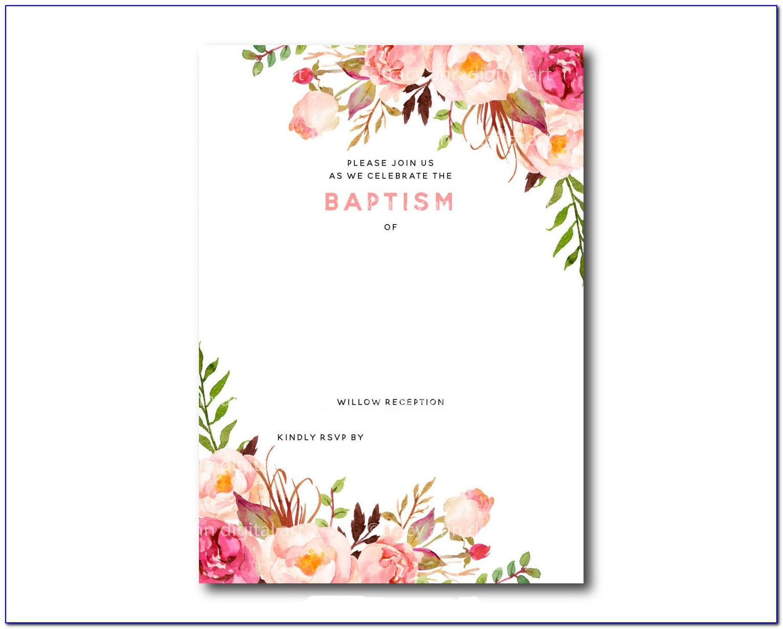 Christening Invitation Templates Free Printable