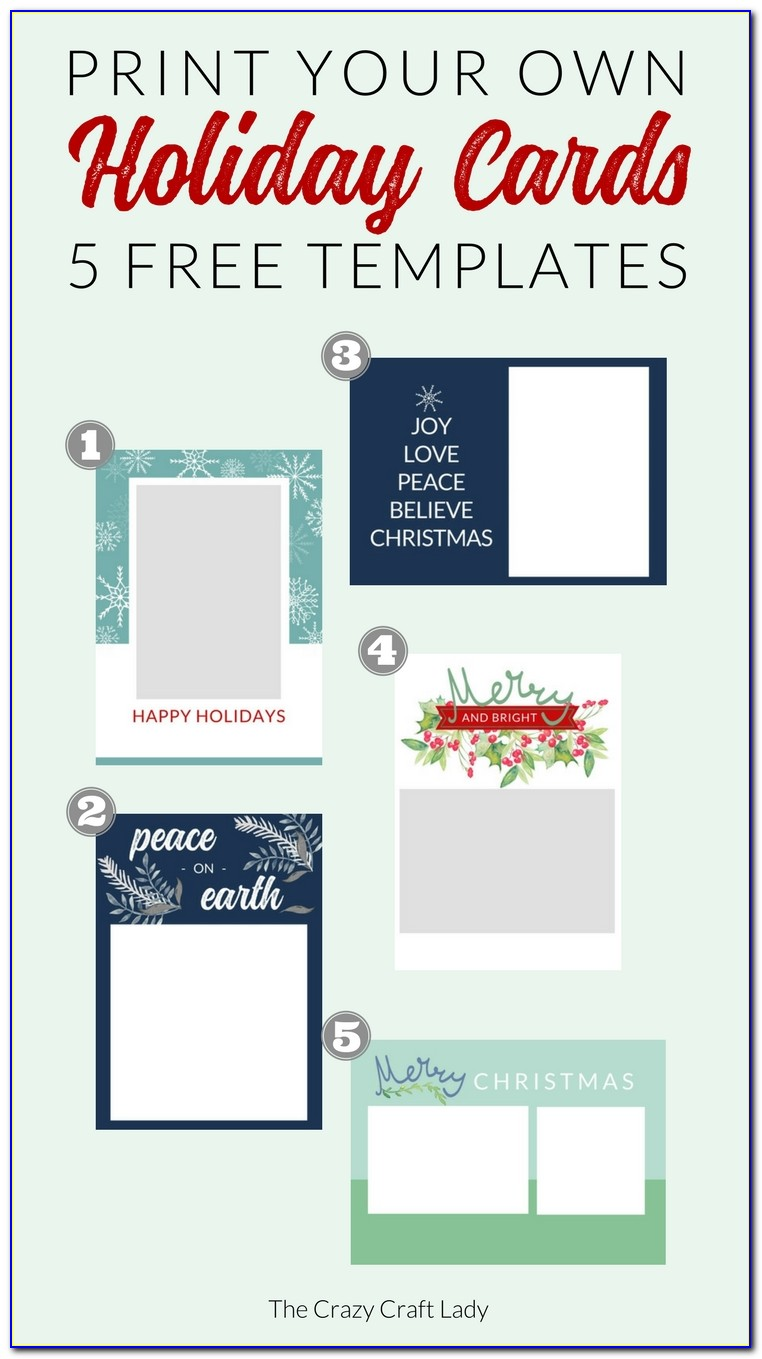 Christmas Card Templates For Photography