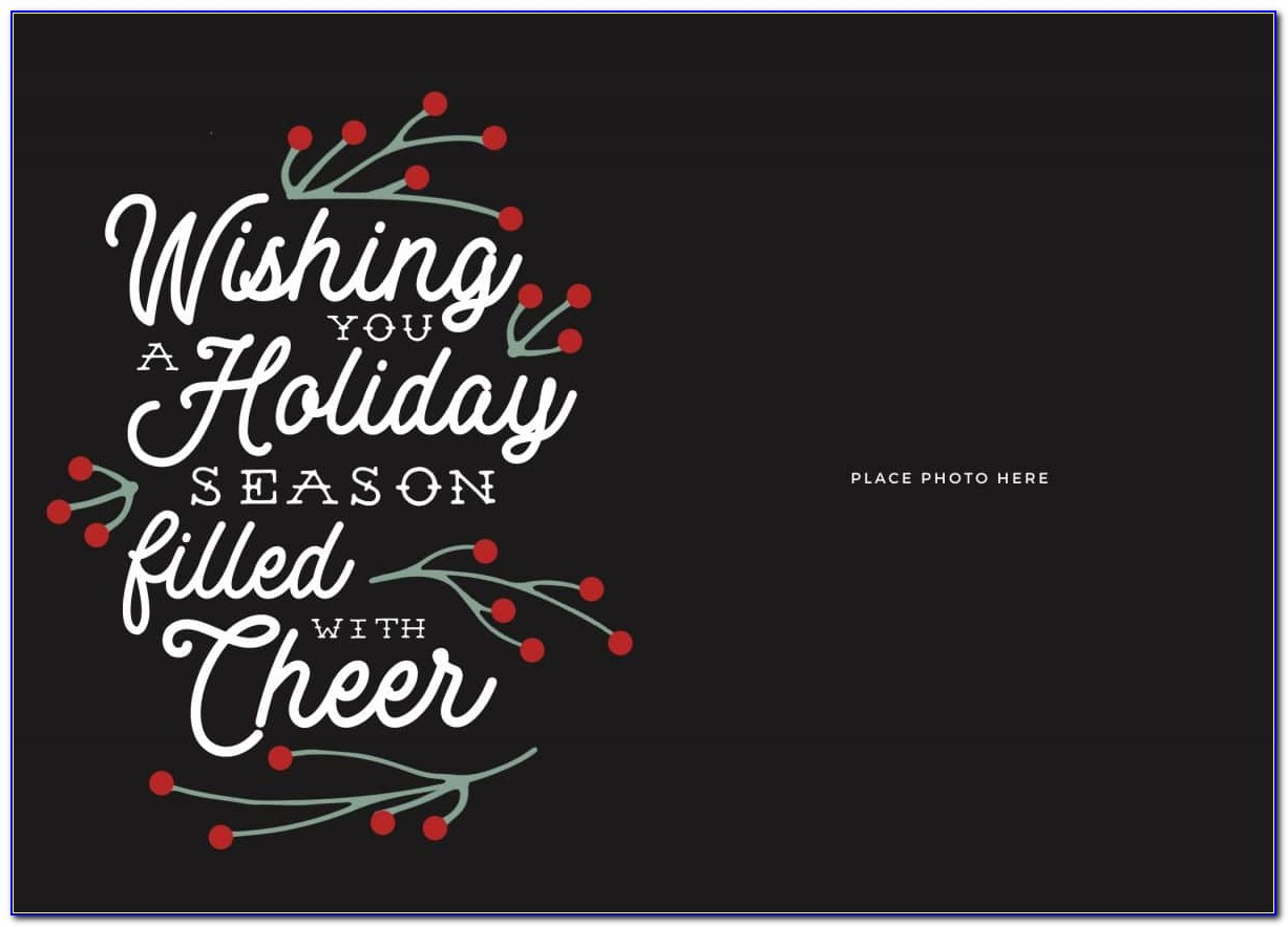 Christmas Card Templates For Professional Photographers