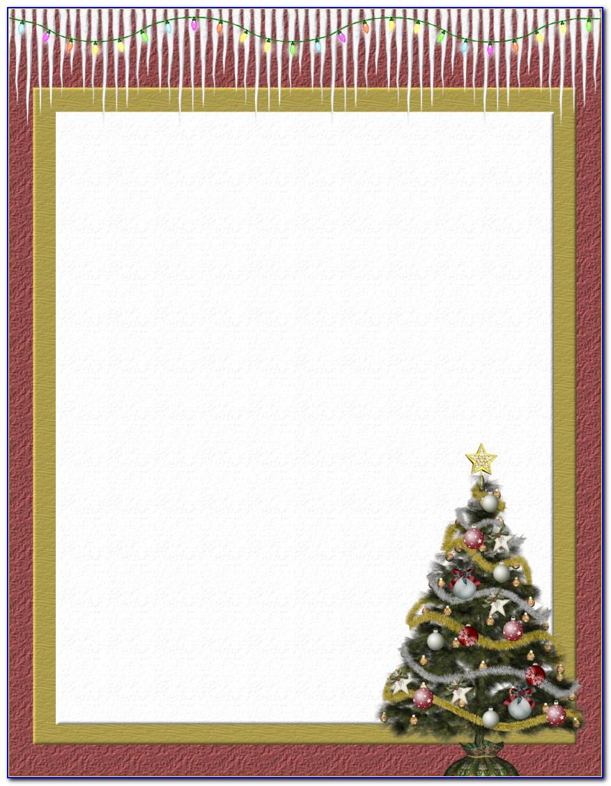 Christmas Holiday Stationery Templates