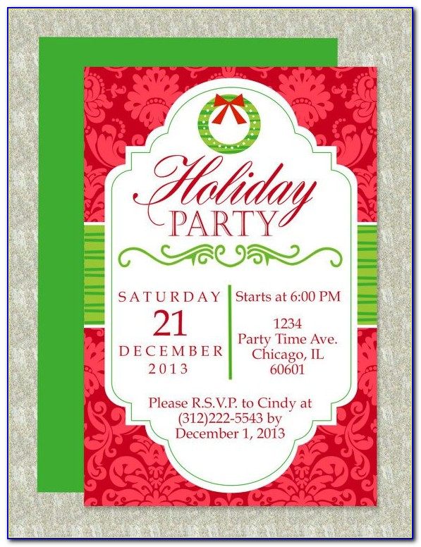 Christmas Invitation Party Template