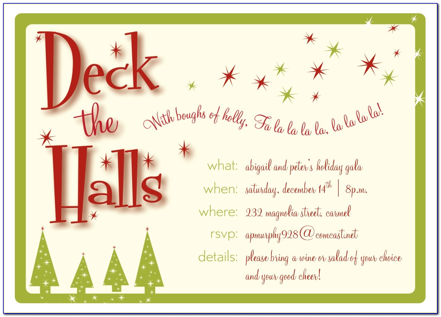 Christmas Lunch Invitation Template Word