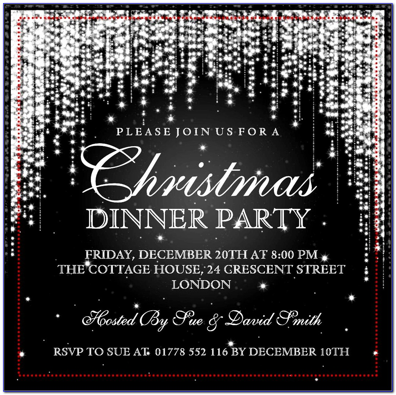Christmas Party Invitation Template Editable