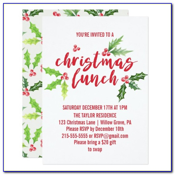 Christmas Party Invitation Template Publisher
