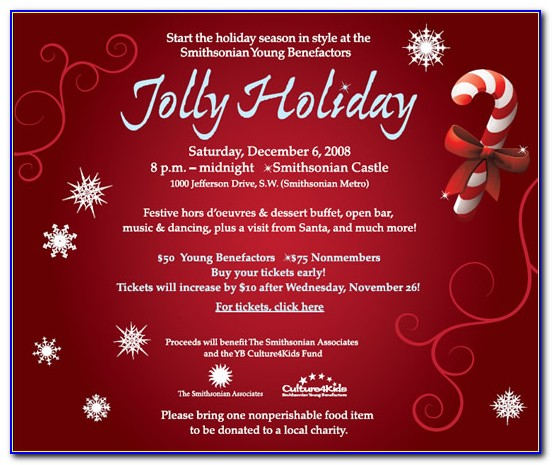 Christmas Party Invites Templates