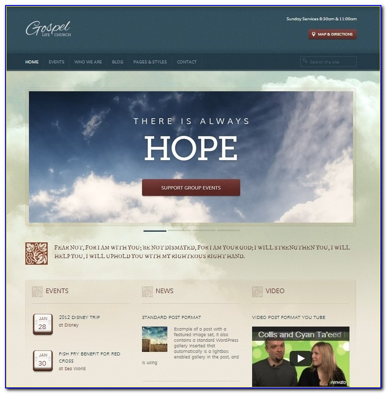 Church Websites Templates Free Downloads