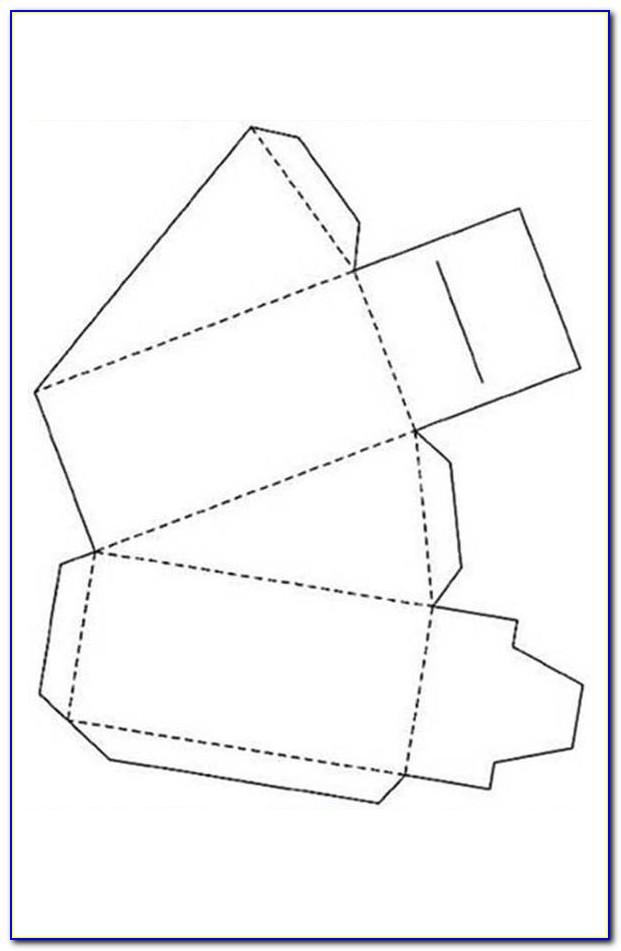 Circular Cake Slice Box Template