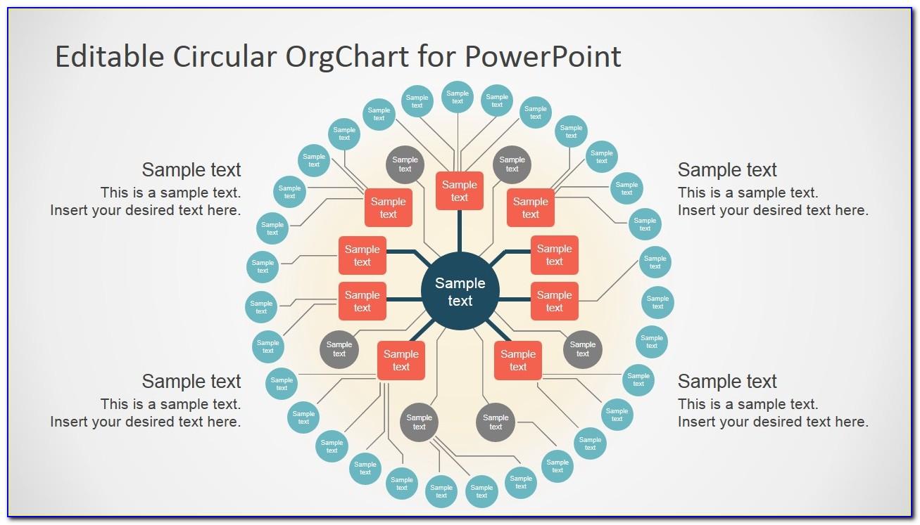 Circular Organizational Chart Template Free