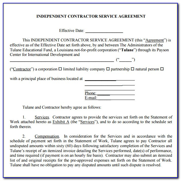 Cleaning Service Contract Template Pdf
