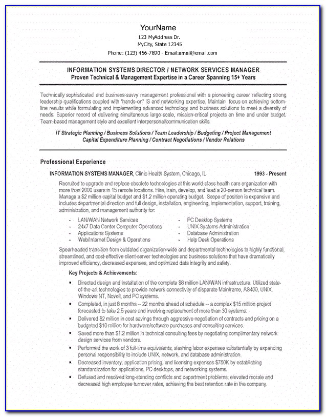 Combination Resume Template Word Free