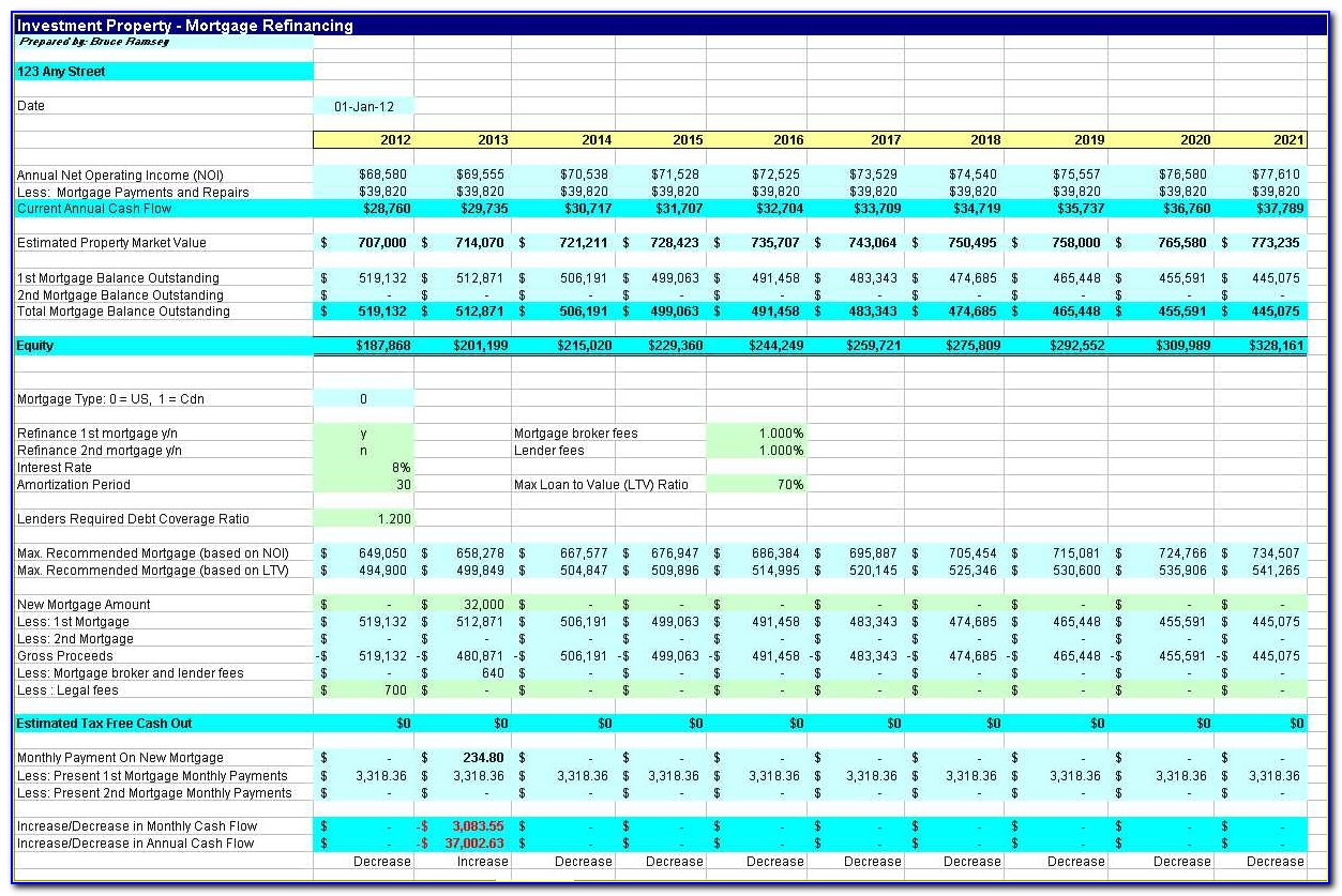 Commercial Property Management Excel Template