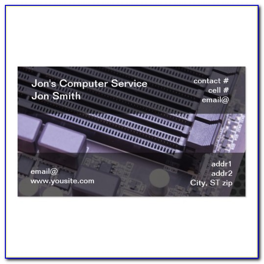 Computer Repair Business Card Templates Free Download