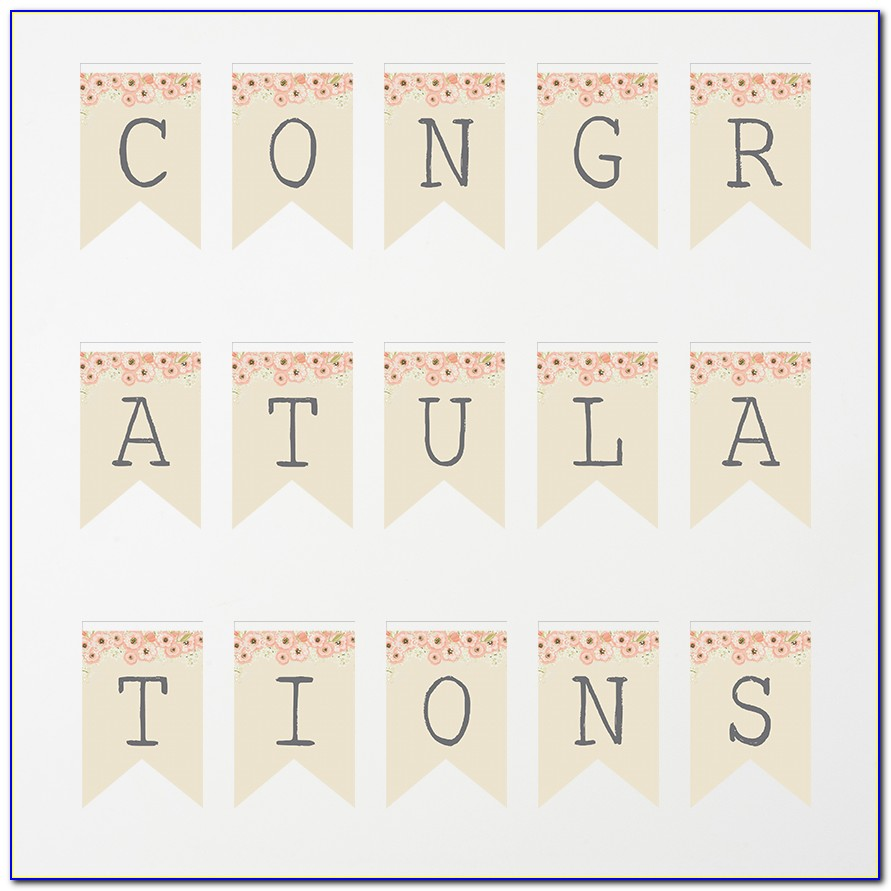 Congratulation Banner Design Template