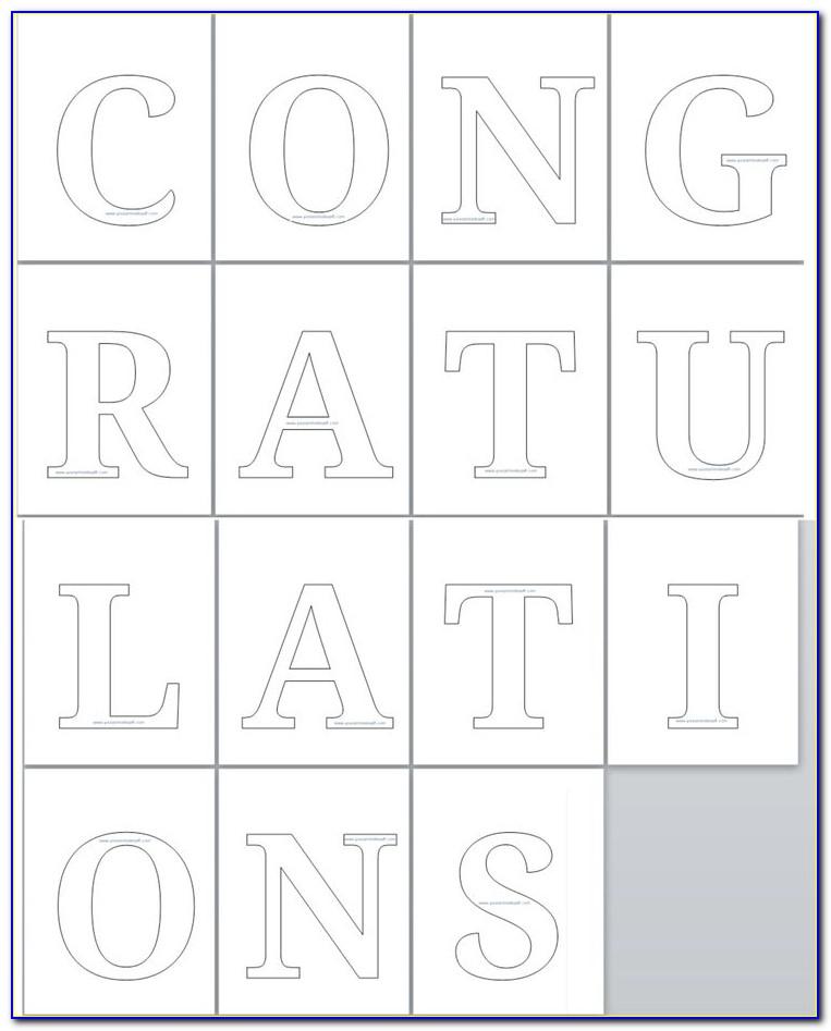 Congratulations Banner Printable Template