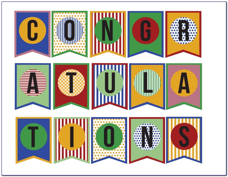 Congratulations Banner Template Free
