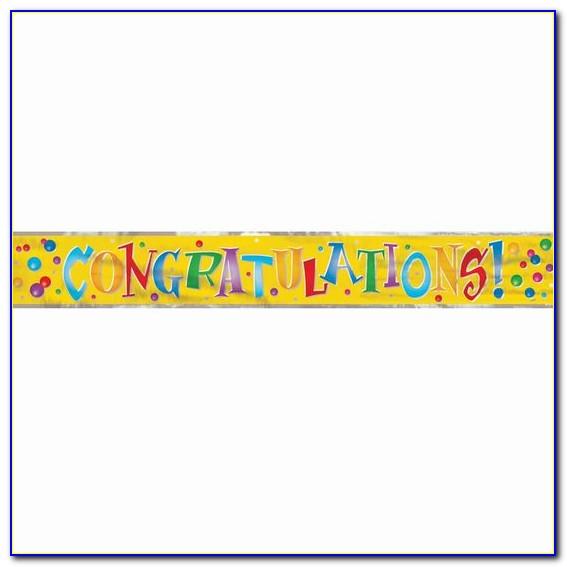 Congratulations Wedding Banner Template