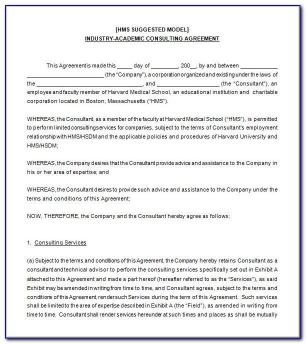 Consultancy Contract Template Pdf