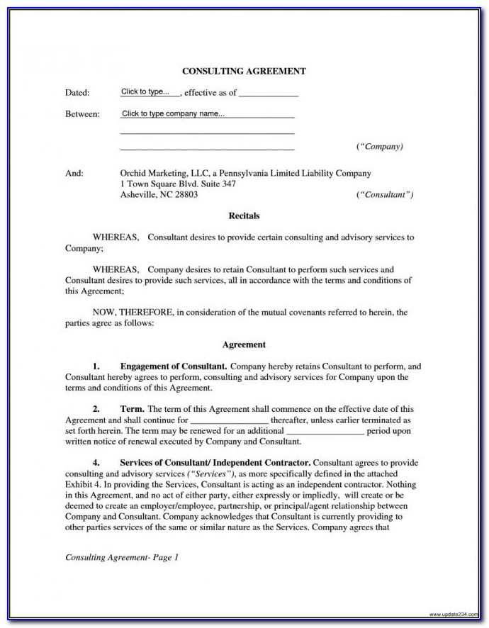 Consultant Contracts And Agreements