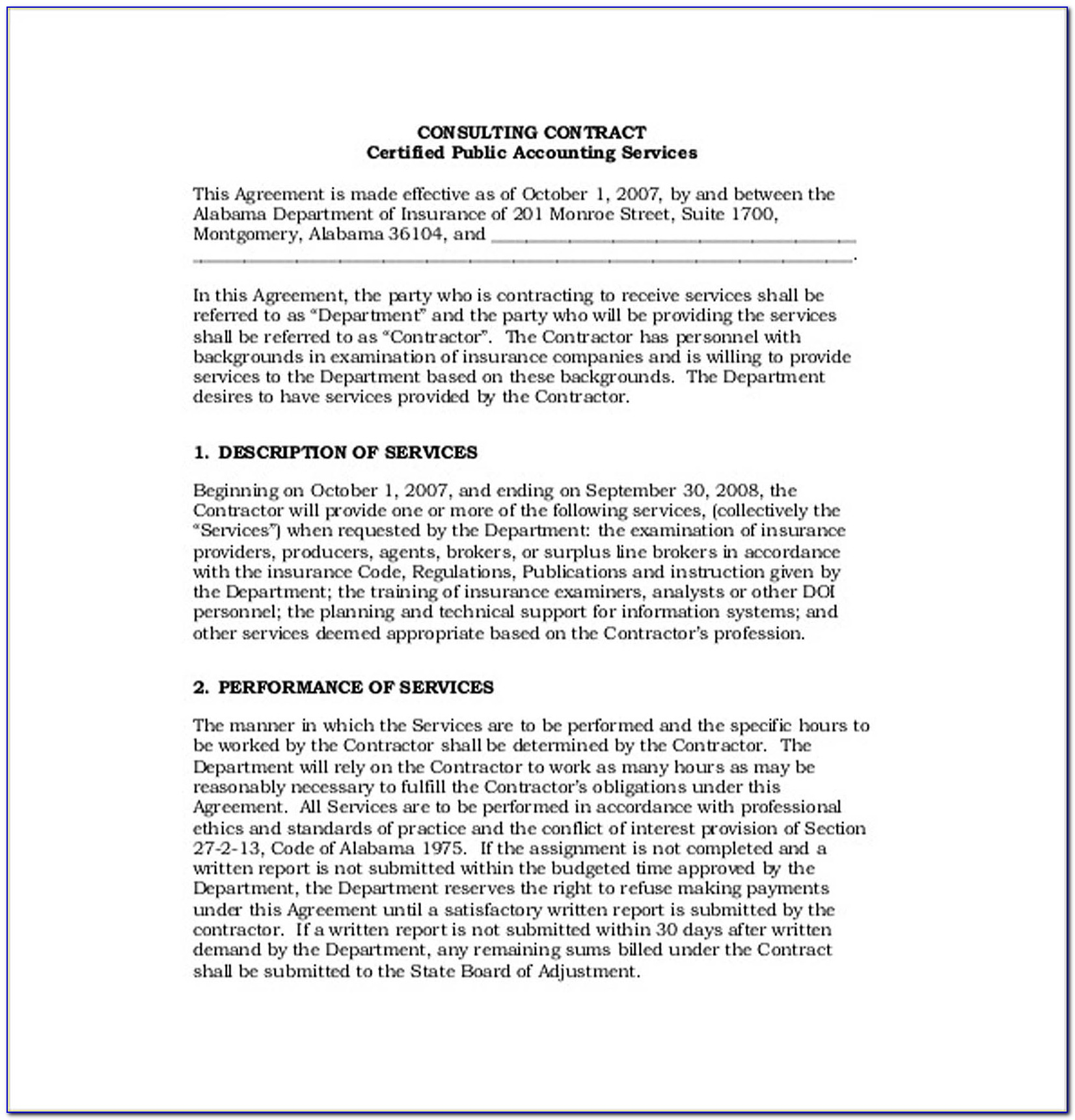 Consulting Contracts Sample