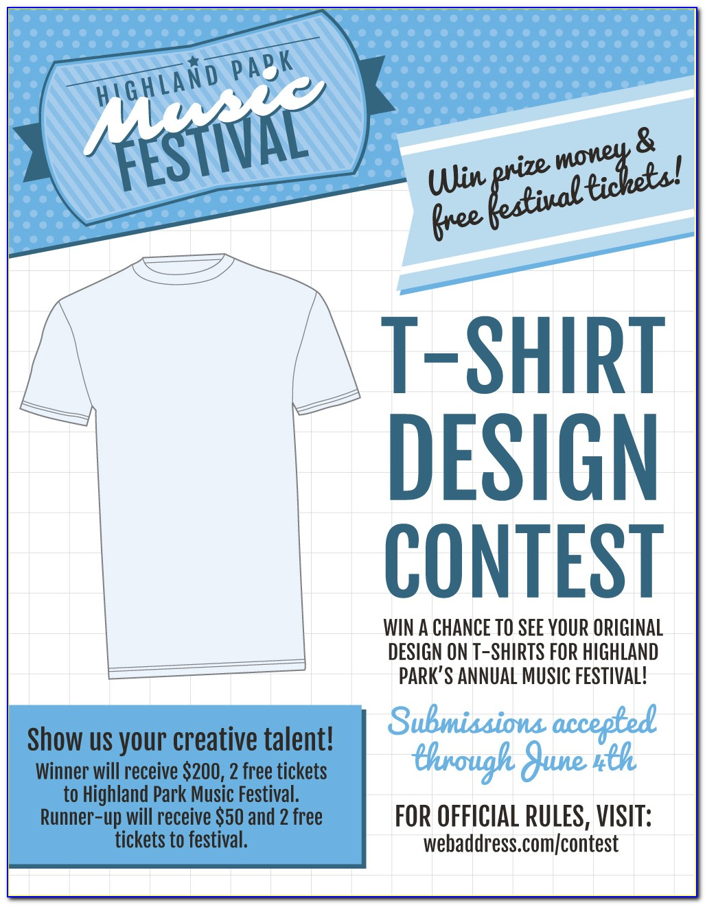 Contest Flyer Template Word