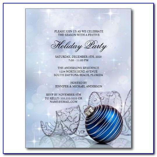 Corporate Christmas Dinner Invitation Templates