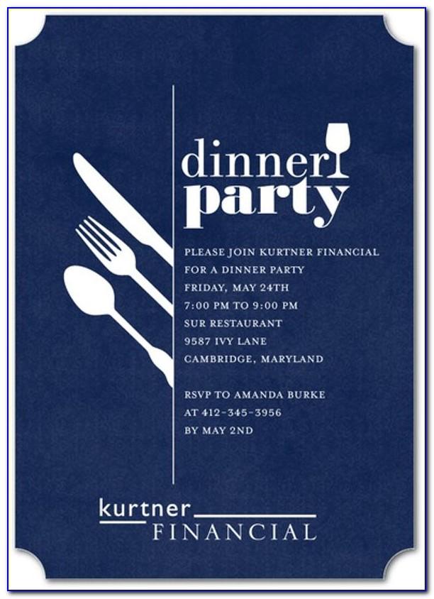 Corporate Dinner Invitation Letter Sample