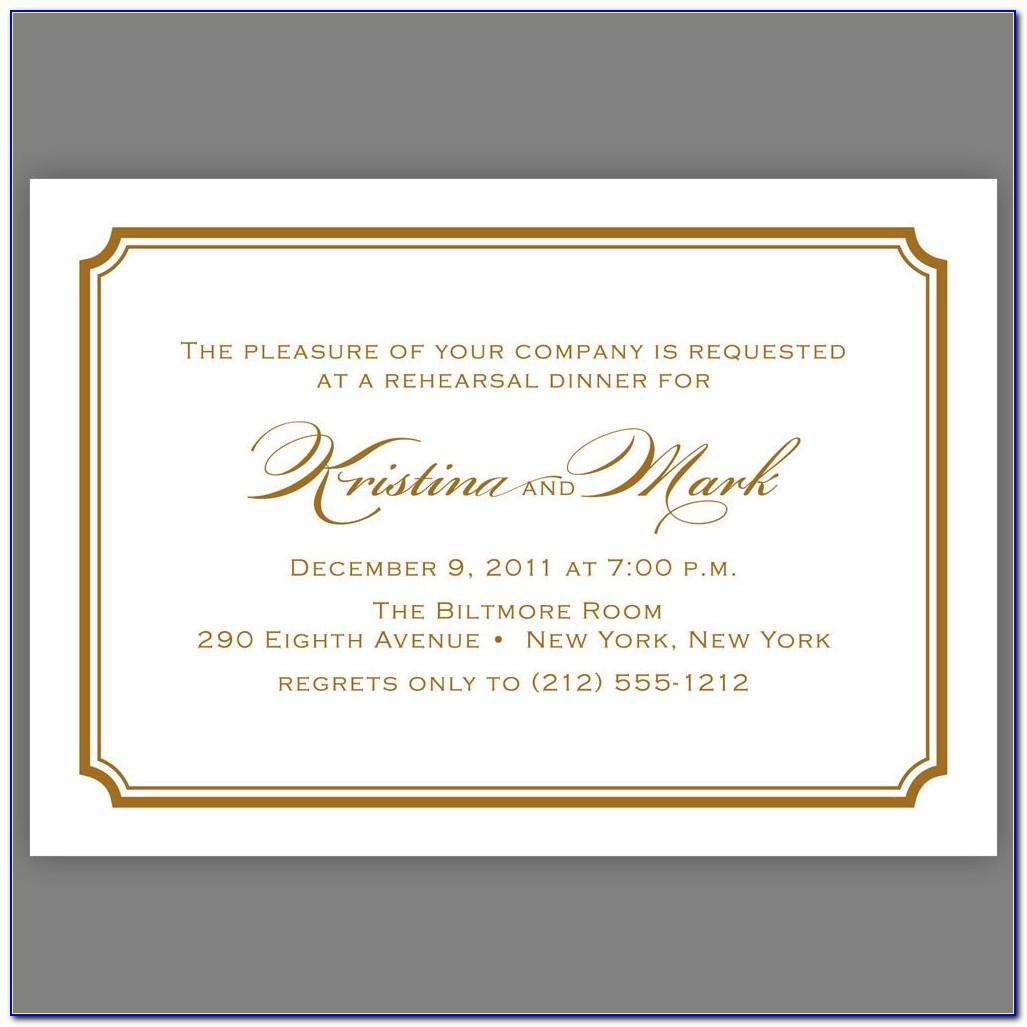 Corporate Dinner Invitation Wording