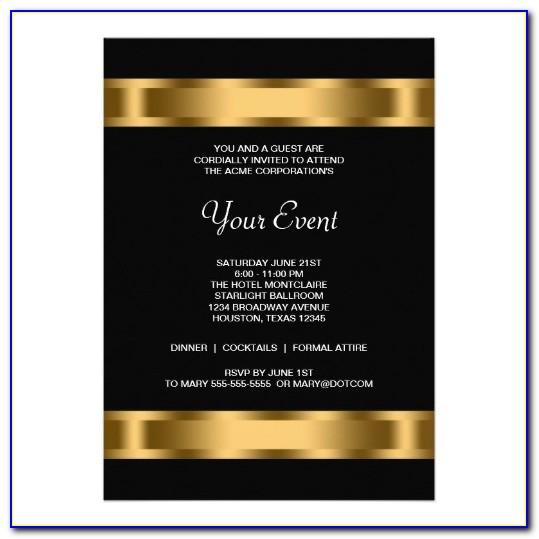 Corporate Event Invitation Template Word