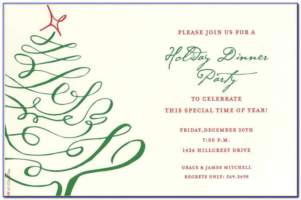 Corporate Holiday Invitation Templates