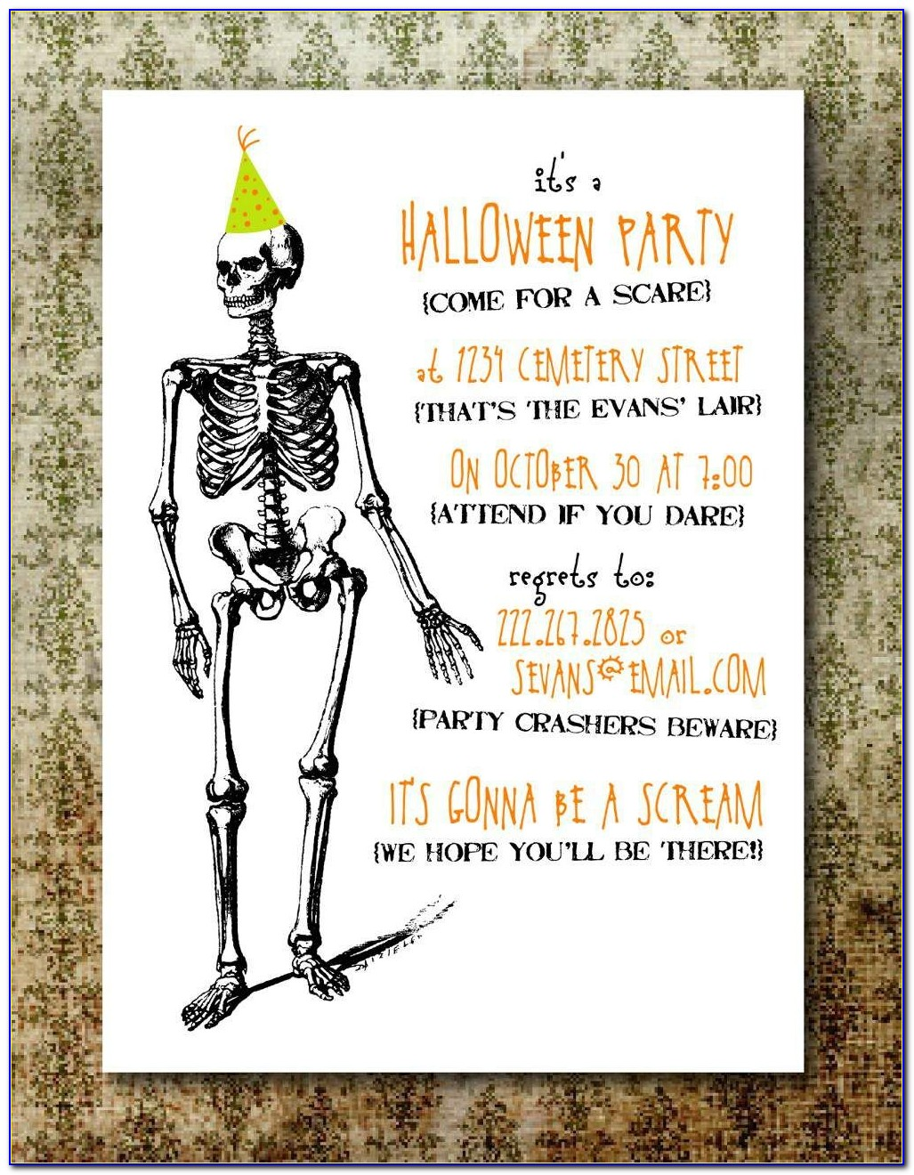 Costume Party Invitation Templates Free