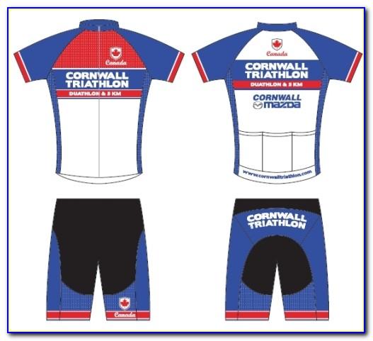 Custom Cycling Jersey Design Template