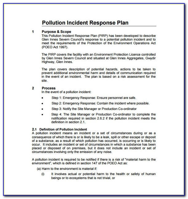 Cyber Security Incident Response Plan Template Nist