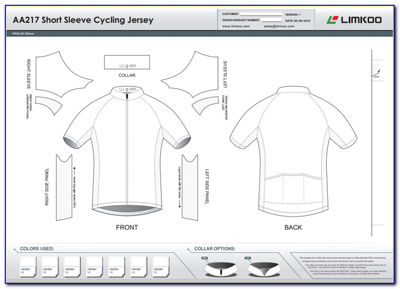 Cycling Jersey Design Template