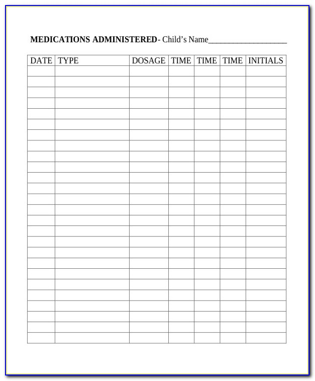 Daily Work Log Book Template