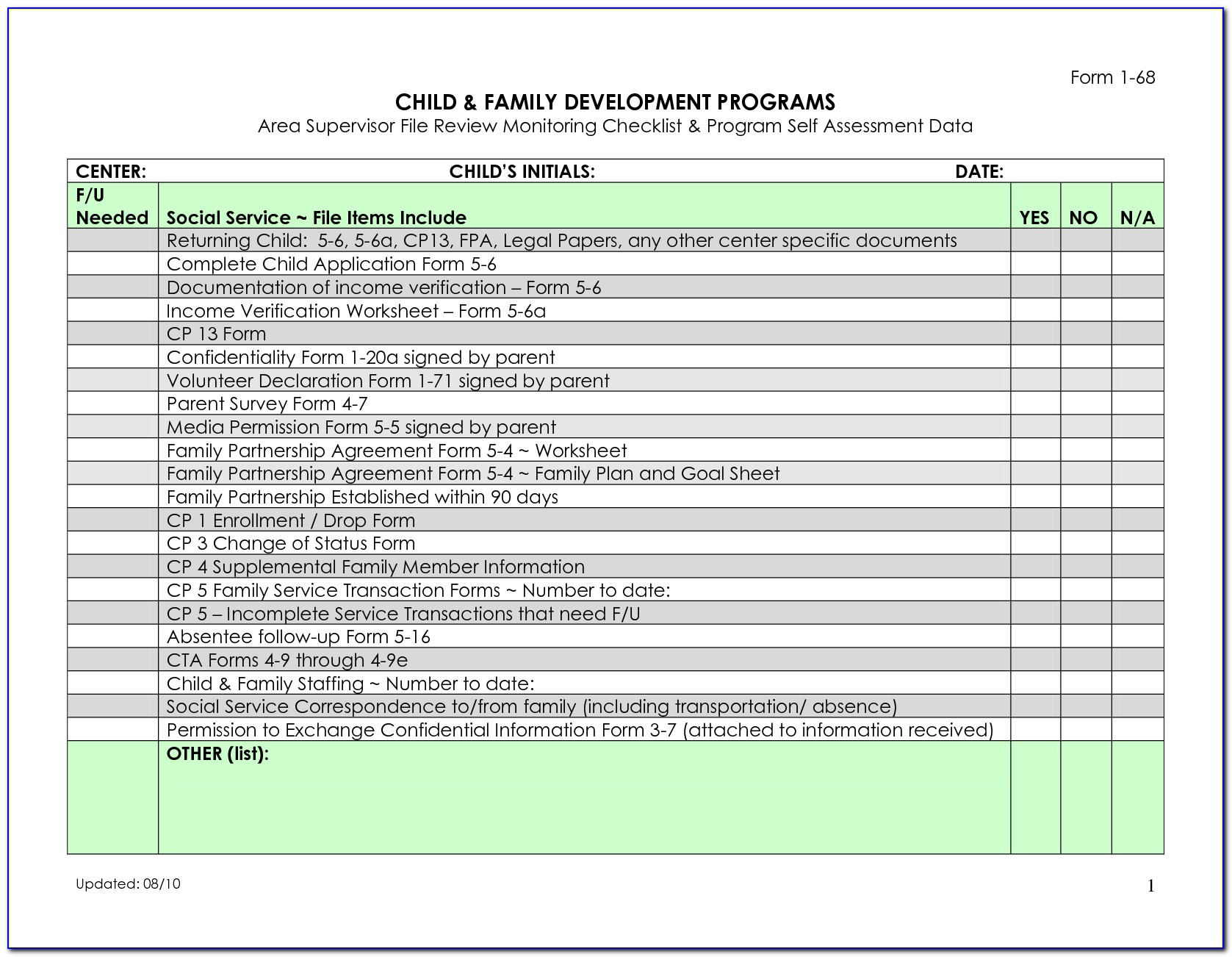 Data Center Checklist Template Excel