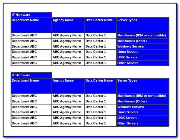 Data Center Migration Checklist Template Excel