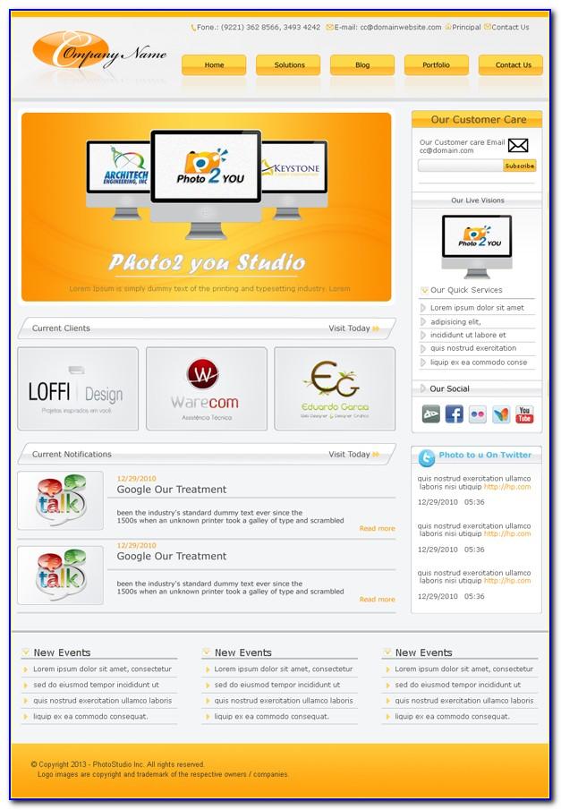 Demo Website Templates Free Download