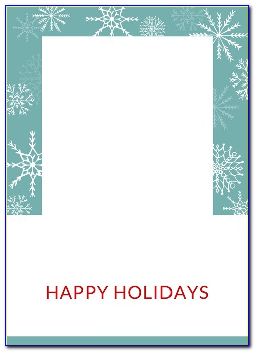Digital Christmas Card Templates For Photographers