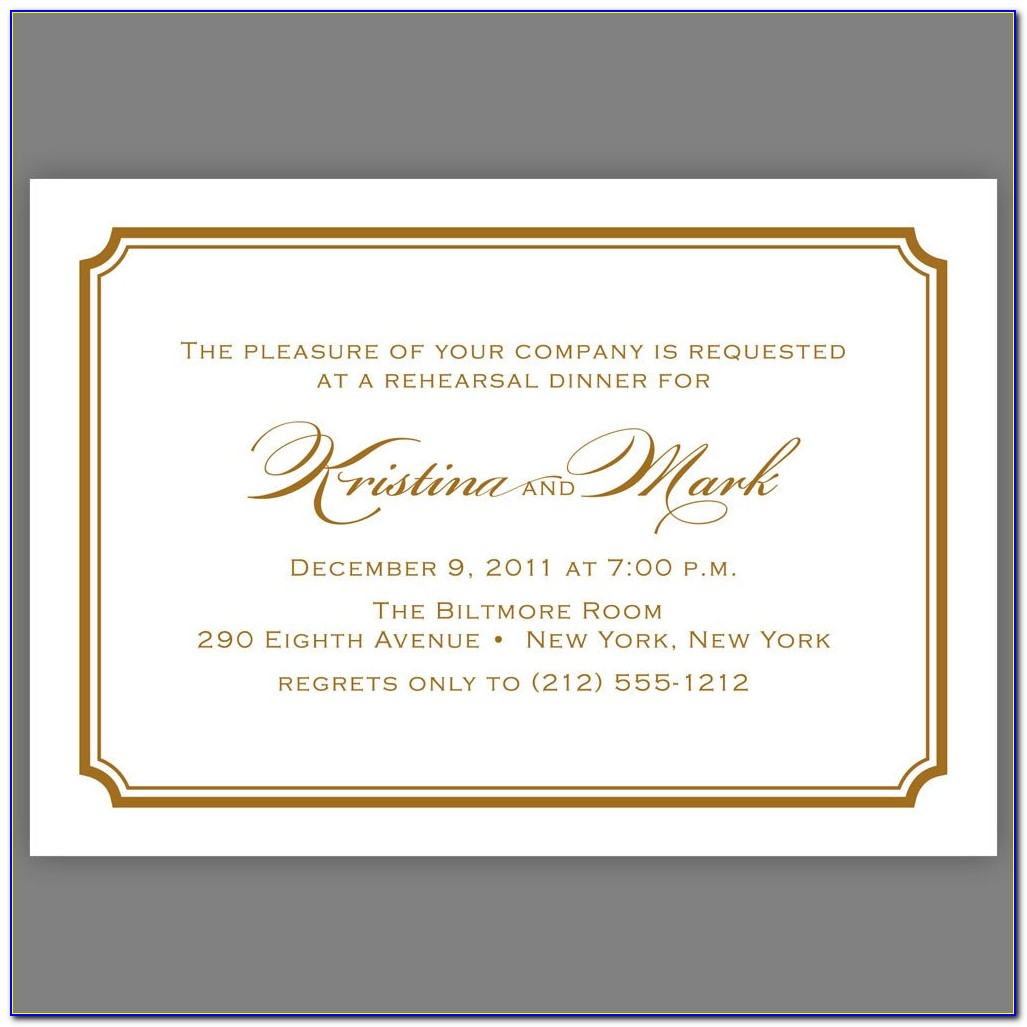 Dinner Invitation Template Word Document