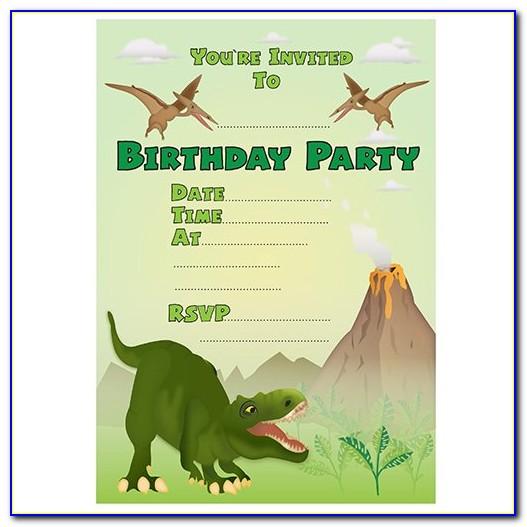 Dinosaur Birthday Invitation Samples