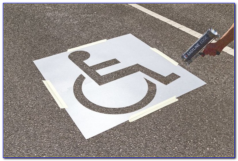 Disabled Parking Sign Template