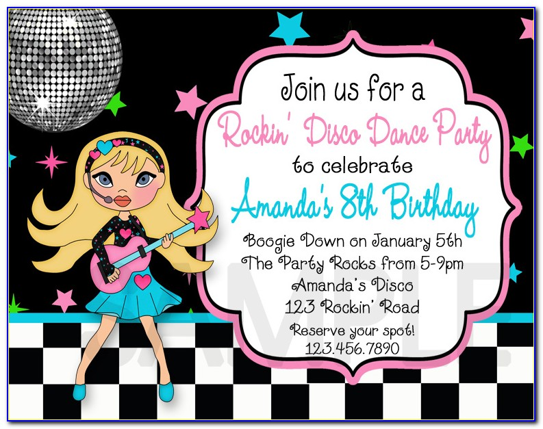 Disco Ball Invitation Template