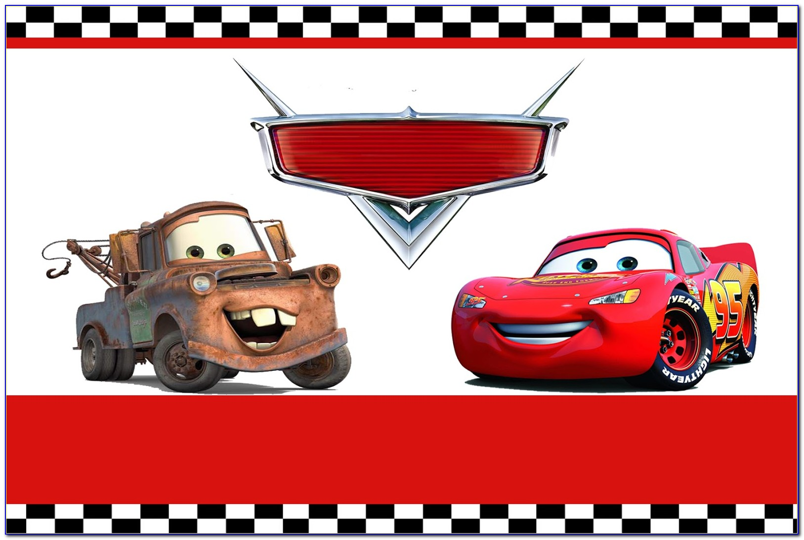 Disney Cars Birthday Invitation Template Free