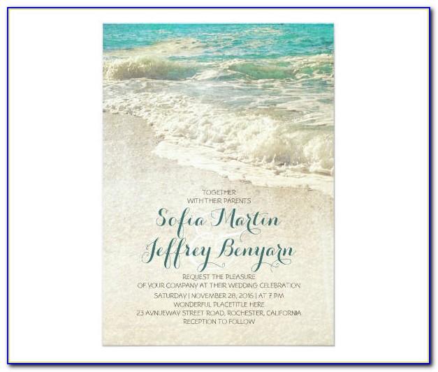 Diy Beach Wedding Invitation Templates