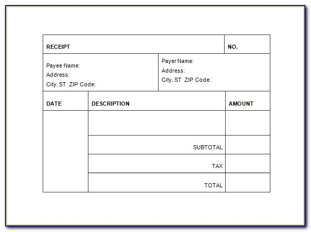 Download Receipt Template Word 2007