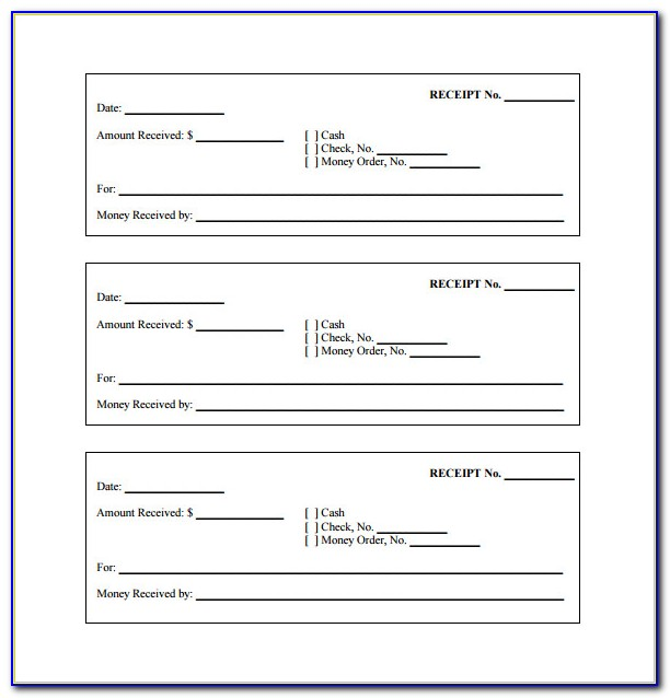 Downloadable Payment Receipt Template